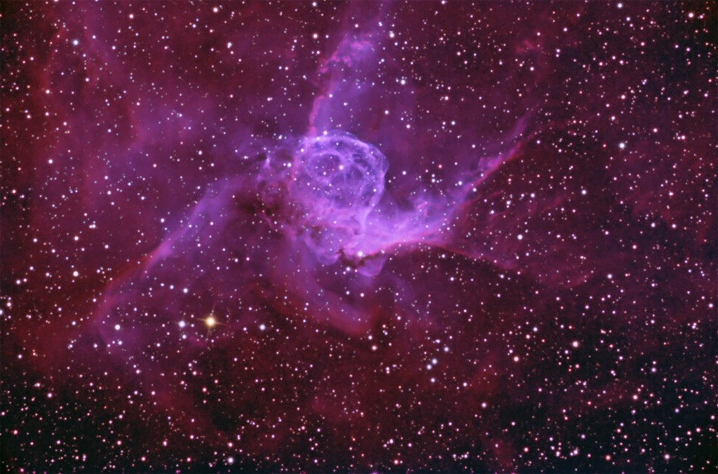 Thor's Helmet in H-a, OIII, RGB