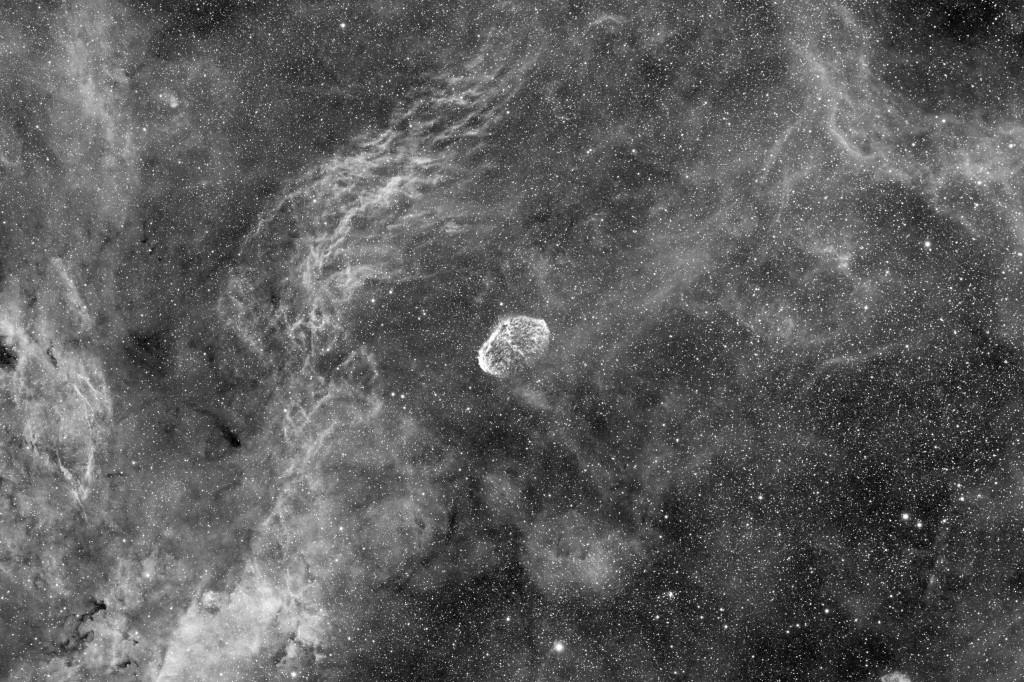 Crescent Nebula in H-a