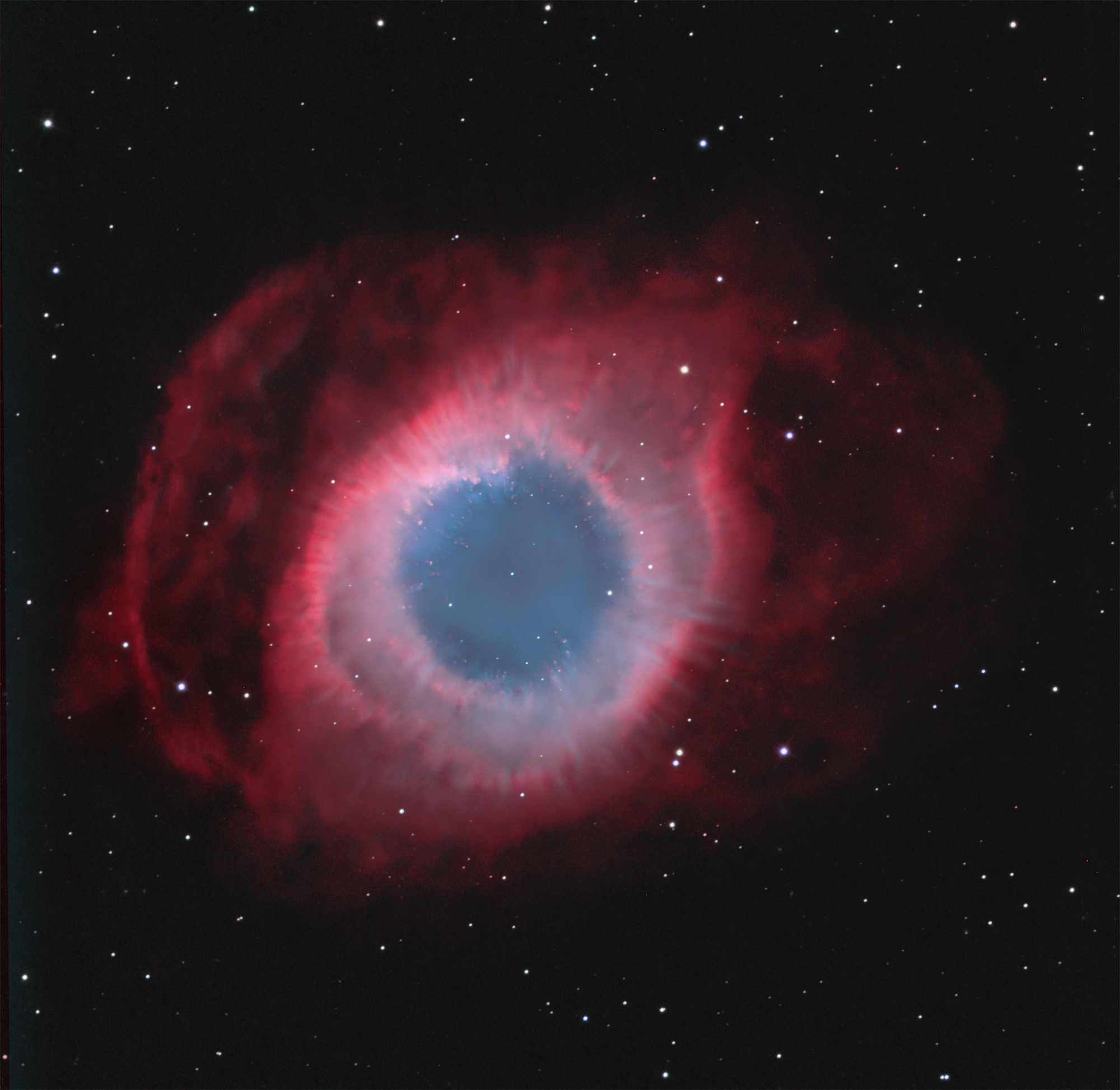 Helix Nebula With Radial Spokes
