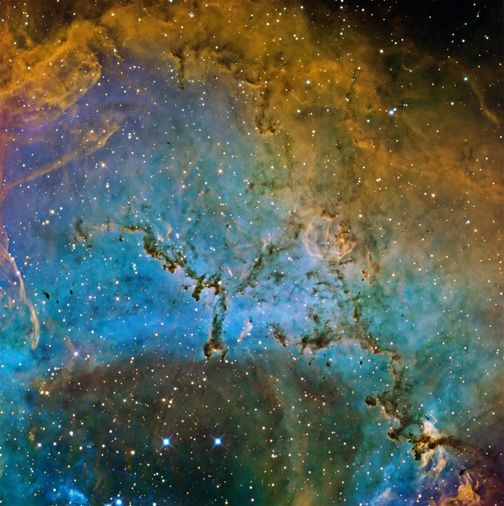 Rosette Narrowband Dark Stacks