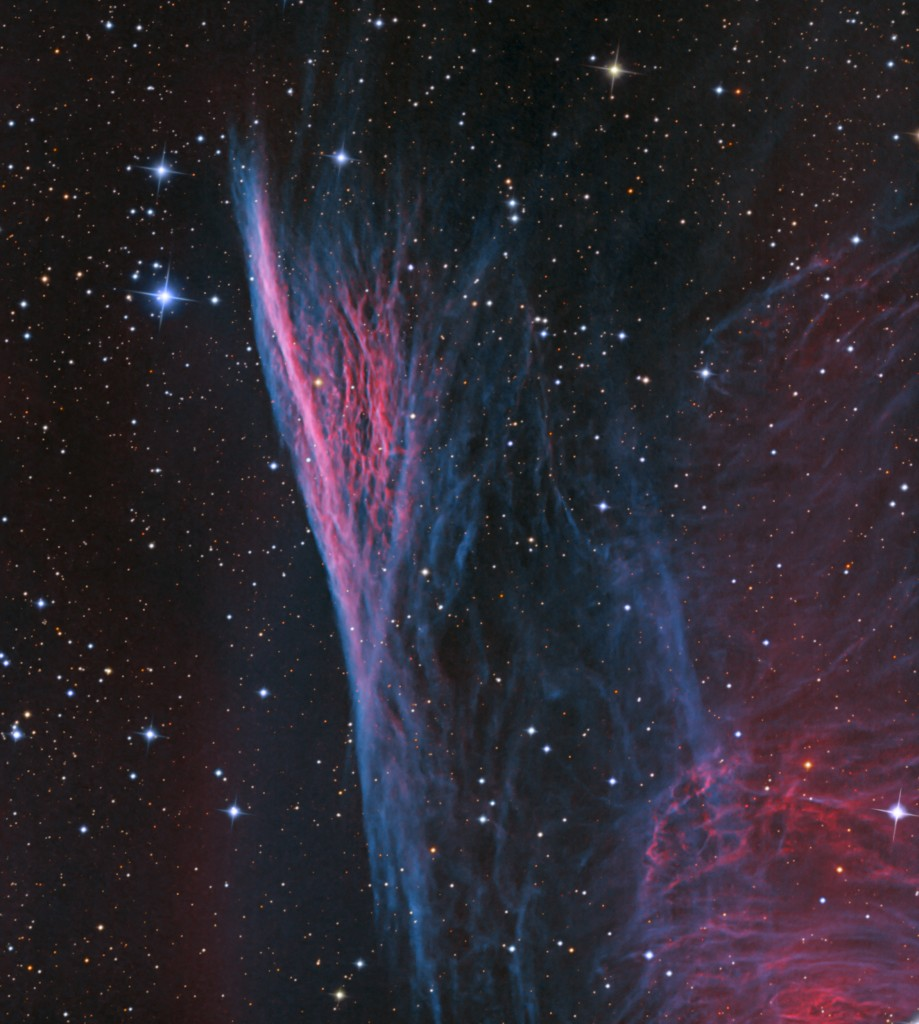 Pencil Nebula in Vela