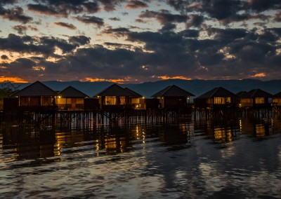 Night On Inle Lake, Myanmar