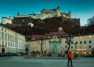 Salzburg Castle At Sunset
