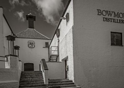 Entering Bowmore Distillery, Islay