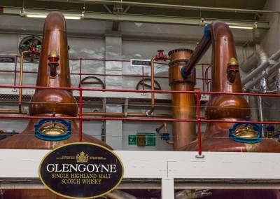 Distillation at Glengoyne, Highlands