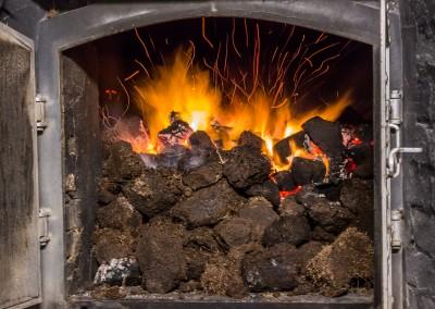 Burning Peat for smoke, LaPhroaig, Islay