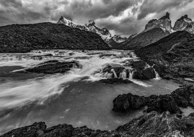 Glacial River Falls Torres del Paine
