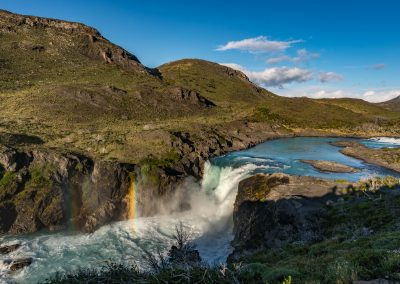 Waterfall and Rainbow Torres del Paine