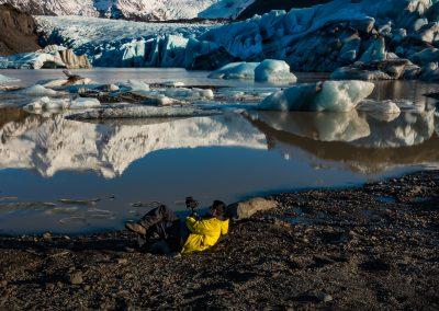 Patient Videographer at Svinafellsjokull Glacial Lagoon