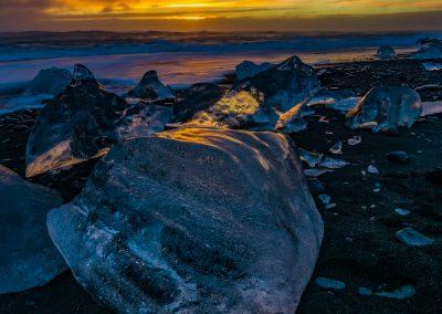 Jokulsarlon Ice Beach Sunrise