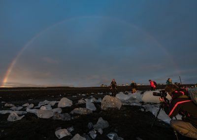Ice Beach Rainbow