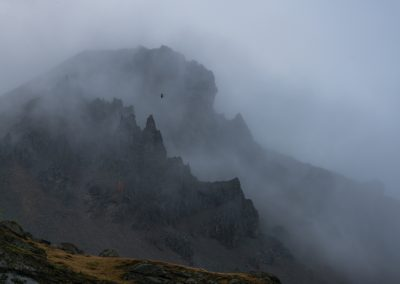 Vestrahorn Mountains in the Mist