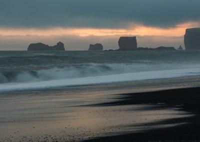 Sea Stacks at Black Sand Beach Reynisfjara