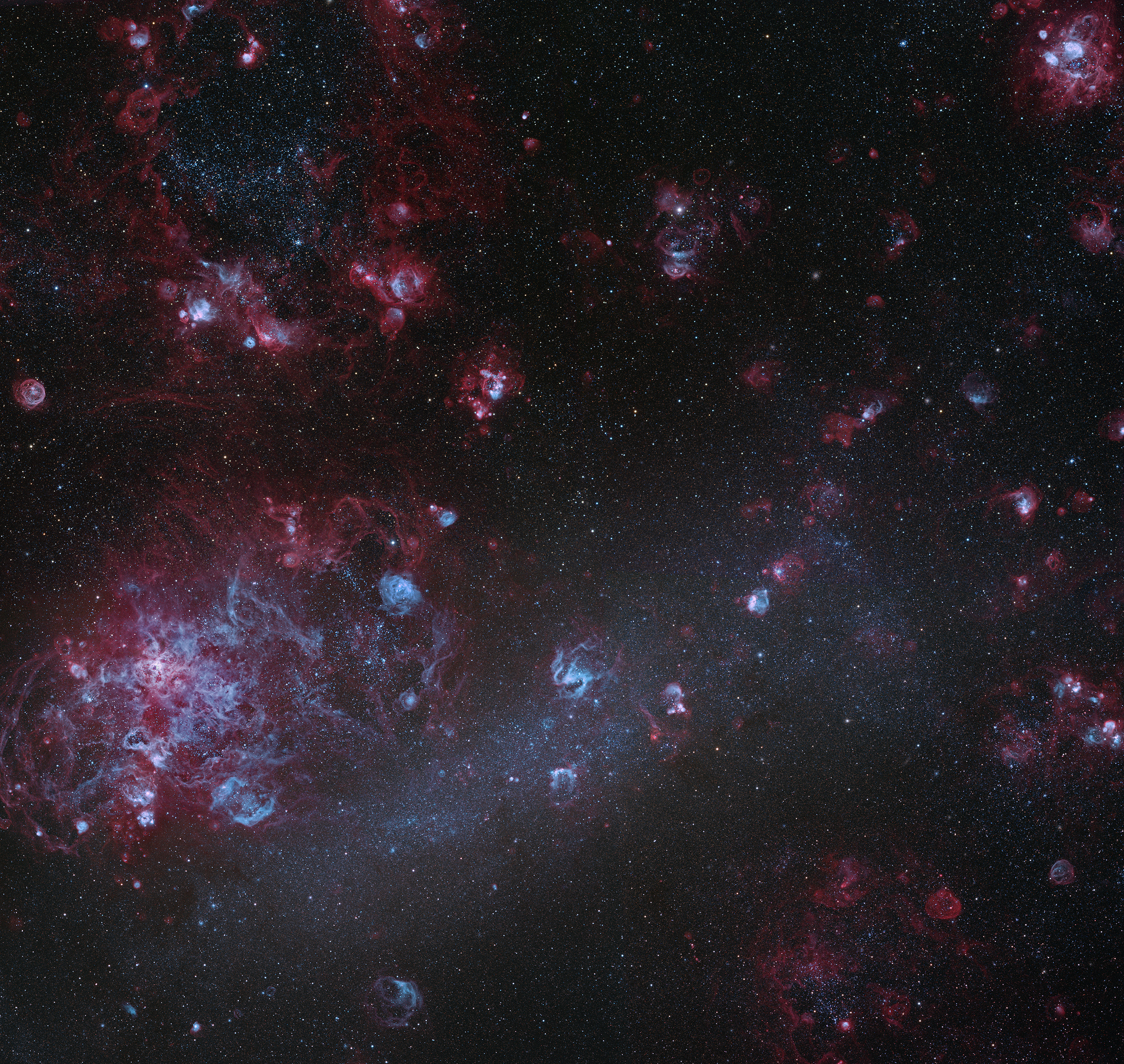 Large Magellanic Cloud and Surrounding Structures