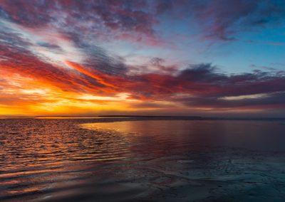 Lagoon Freezing at Sunset 2