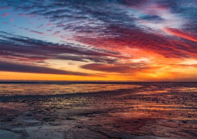 Lagoon Freezing at Sunset
