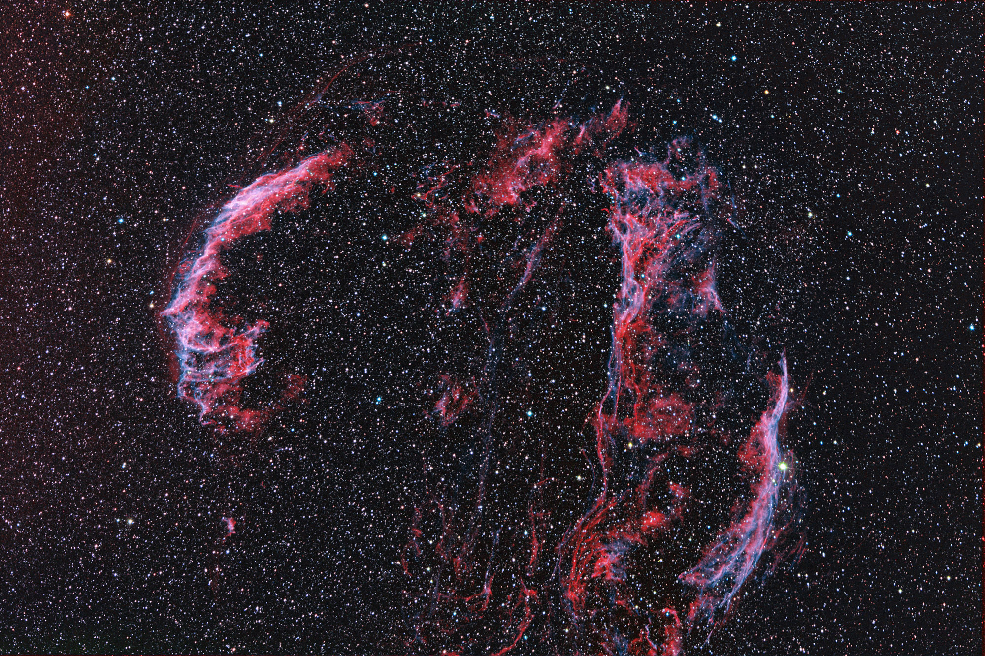 Veil in OIII/H-a RGB with E-180