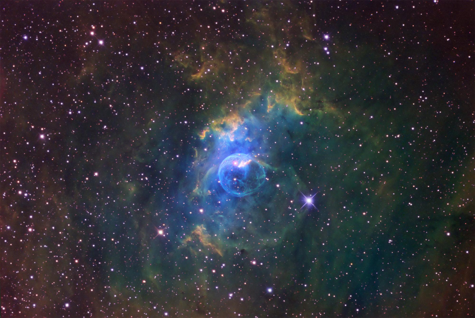 Bubble Nebula Narrowband