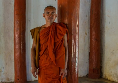 Monk Standing, Bagan, Myanmar