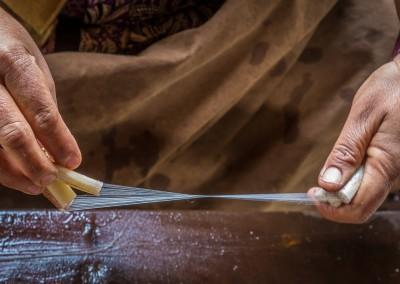 Pulling Fibers Inle Lake, Myanmar