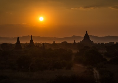 Sunset Bagan Myanmar