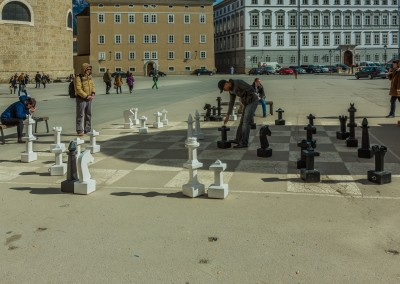 Chess In Kapitelplatz, Salzburg