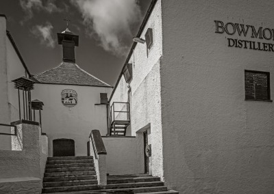 Entering Bowmore Distillery, Islay