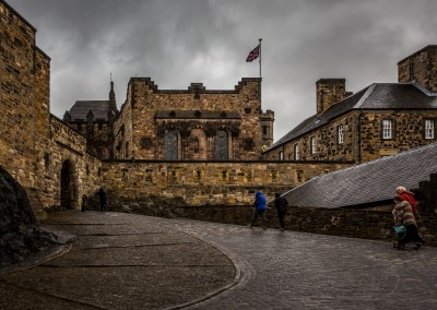 Entering Edinburgh Castle