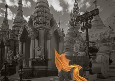 Shwedigon Flame, Bagan, Myanmar