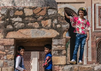 Children Near Qutub Minar, New Dehli