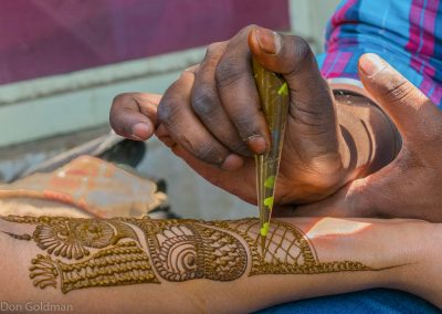 Intricate Henna Body Art