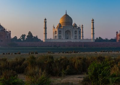 Taj Mahal Panorama from Mehtab Bagh  Across Yamuna River