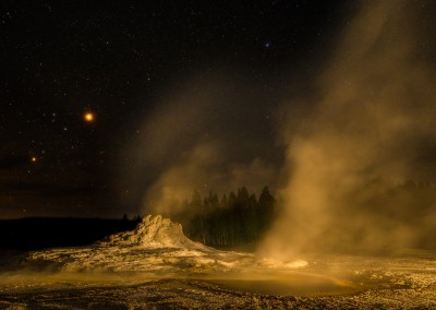 Castle Geyser Lights