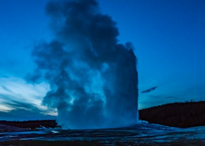 Old Faithful After Sunset