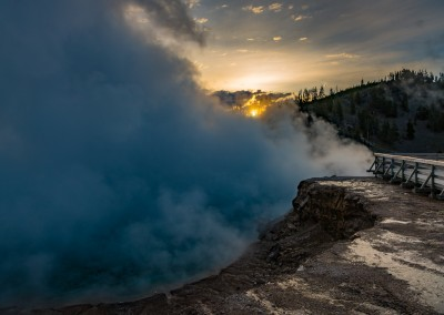Sunrise at Grand Prismatic Basin 2