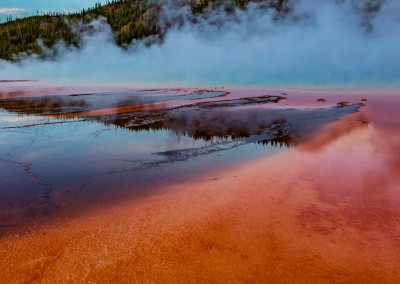Sunrise at Grand Prismatic Basin