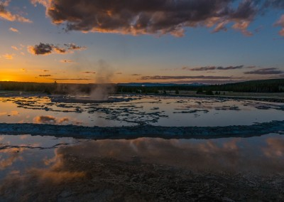 Sunset Great Fountain Geyser 2