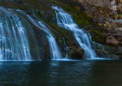 Heron Watching Waterfall