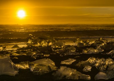 Jokulsarlon Ice Beach Sunrise