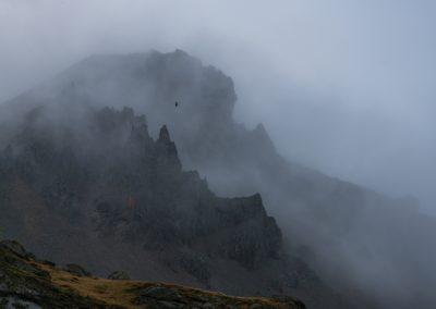 Vestrahorn Mountains in the Mist