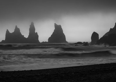 Basaltic Sea Stacks Near Vik
