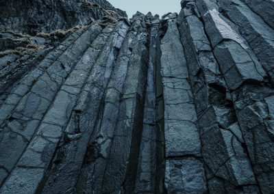 Basalt Columns at Black Beach Near Vik