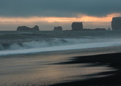Sea Stacks at Black Sand Beach Reynisfjara