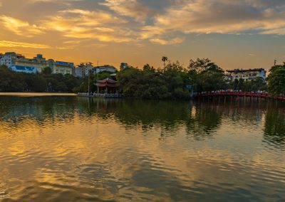 Hoan Kiem Lake at Sunset
