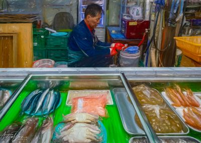 Seongdon Market Fish Vendor