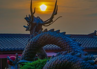 Yonggungsa Temple Dragon Sunset