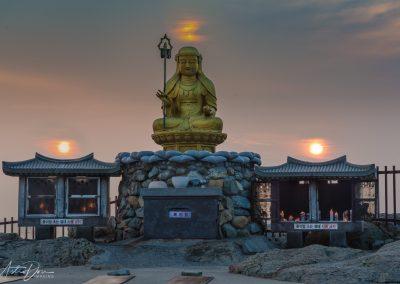 Yonggungsa Temple Buddha Sunset