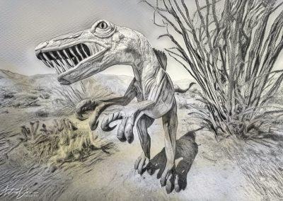 Velociraptor Caricature