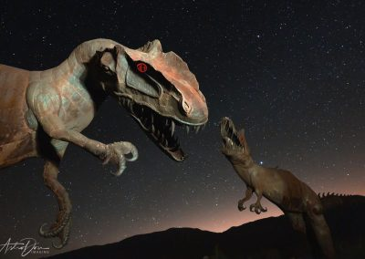 Dinosaur Night Fighting