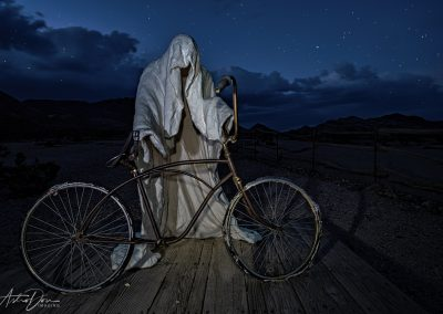 Ghostly Bicyclist Goldwell Open Air Museum Rhyolite